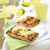 Two Different Focaccia Pizzas