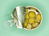 Opened Tin of Olives in Oil