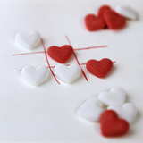 Several White and Red Grape Sugar Hearts