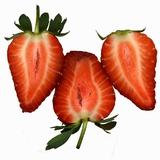 Three Strawberries Halves