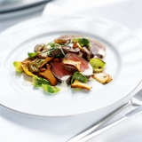 Venison Fillet with Sprout Leaves and Chanterelle Mushrooms