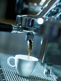 Espresso Running into a Cup