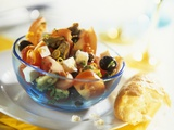 Tomato  Mussel  Feta and Olive Salad