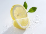 Slice and Wedge of Lemon