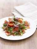Tomato Salad with Onions and Mint