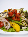 Mixed Salad with Grilled Vegetables