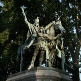 Equestrian bronze statue of Charlemagne  Paris