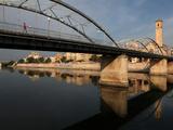 Puente del Estado and Parroquia del Rosario  Tortosa  Tarragona  Spain