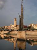 "Monument to the batalla de l'Ebre"" (the Ebro battle)  Tortosa  Tarragona  Spain"