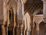 Portico  Courtyard of the Lions  Comares Palace  Alhambra  Granada  Spain