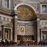 Main altar  Rotunda of the Pantheon  Rome  Italy