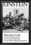 Einstein; Three Rules of Work