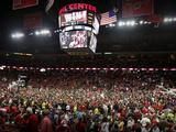 Wisconsin vs Michigan - Fans Rush the Court: Madison  Wis  Feb 9  2013