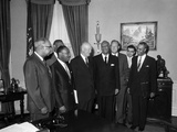 Roy Wilkins  Martin Luther King Jr  A Phillp Randolph  Lester Granger  Dwight D Eisenhower 1958