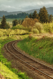 Tracks through Hood River  Oregon