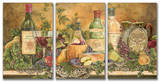 Grapes of Tuscany Triptych Art