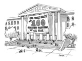 """One Week Only!The 100 Greatest Paintings Of All Time"" - New Yorker Cartoon"