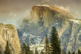 Cloud Wisps at Half Dome  Yosemite