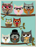Professional Owls on Branches