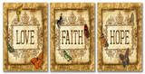 Love Faith Hope Tapestry Triptych Art