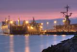 Night Ships at Alameda Point