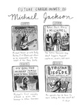 Future Career Moves of Mickael Jackson - New Yorker Cartoon