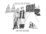 THEY'VE GOT IT PLAIDAND THAT AIN'T GOOD - New Yorker Cartoon