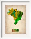 Brazil Watercolor Map