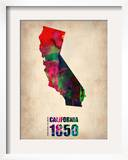 California Watercolor Map