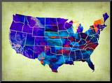 Usa Watercolor Map 5