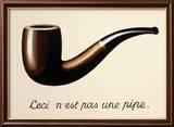 La Trahison des Images Reproduction encadrée par Rene Magritte