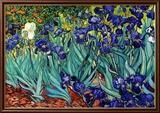 Iris, Saint-Rémy, vers 1889 Reproduction encadrée par Vincent Van Gogh