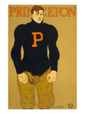 Princeton Poster  Burly Football Player