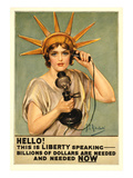 Liberty Telephoning for Money Poster