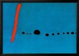 Bleu II Reproduction encadrée par Joan Miró