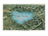 Map of Lake Tahoe Highways