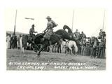 Cowboy on Bucking Bronco  Montana