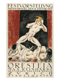 Poster for Orestes Production  Zurich