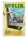 Dublin Air Lines Travel Poster