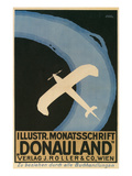 Donauland Magazine Cover  Airplane