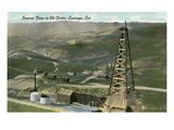 Oil Fields  Coalinga  California