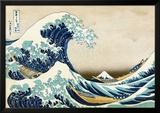 La grande vague de Kanagawa Reproduction encadrée par Katsushika Hokusai