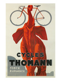 Cycles Thomann  Red Elephant Holding Bike