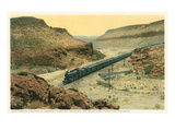 Train in Crozier Canyon  Kingman  Arizona