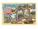 Greetings from Camp Beale  California