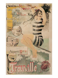 Early French Bathing Beauty  Trouville