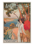Travel Poster  Antibes