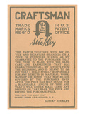Stickley Craftsman Label
