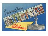 Greetings from Enterprise  Alabama