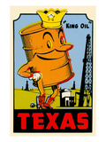 King Oil Decal